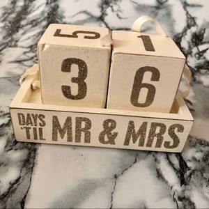 Wedding Countdown Decor W/ Numbered Blocks👰🏻🤵🏻